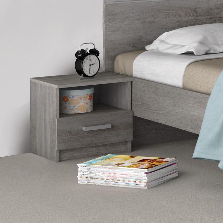 home24 Nachttisch Amboise | Schlafzimmer > Nachttische | Grau | Holzwerkstoff | mooved