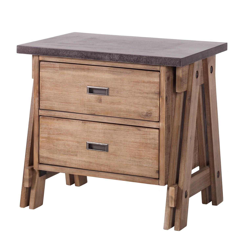 Comodino Beton - legno lamellare di acacia, ars manufacti