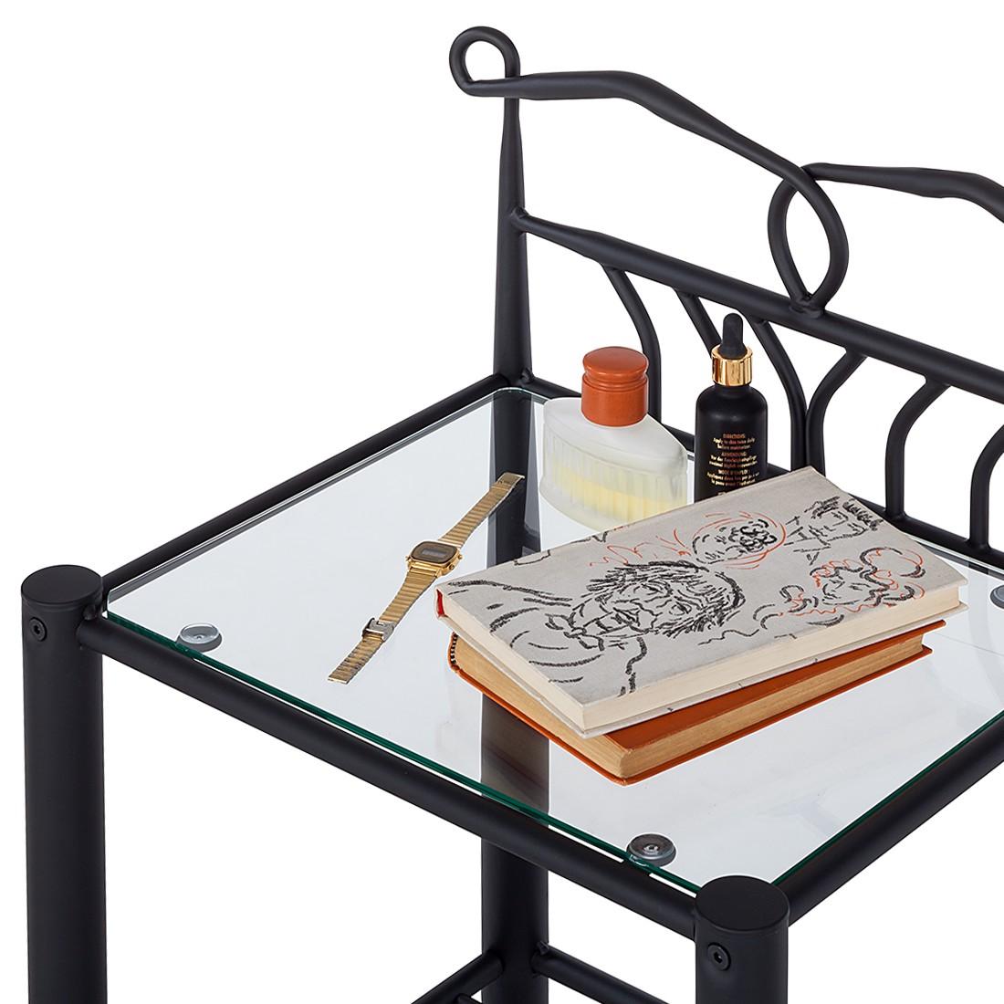 nachttisch mit glasplatte perfect nachttisch give glasplatte stahl wei with nachttisch mit. Black Bedroom Furniture Sets. Home Design Ideas