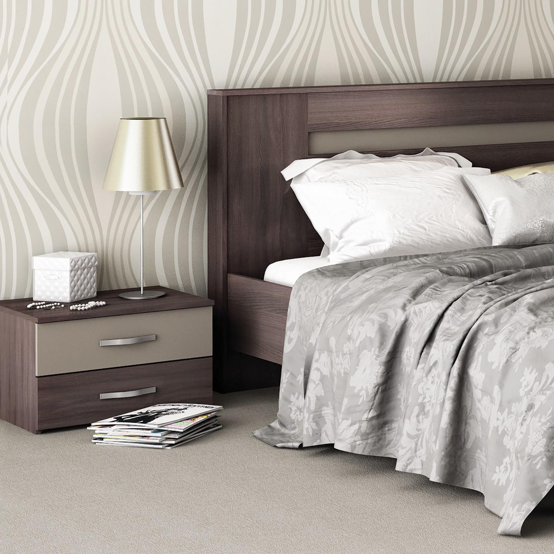 home24 Nachttisch Trelaze (2-er Set) | Schlafzimmer > Nachttische | Braun | mooved