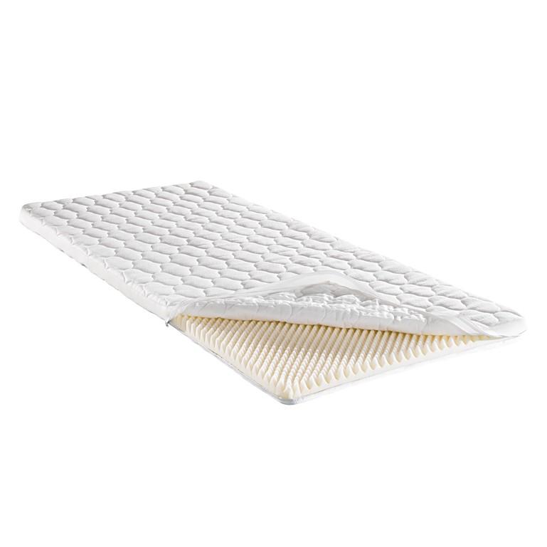 Materasso sottile in polistirene a struttura piramidale (Altezza: del nucleo 4 cm) Soft Sleep - 160 x 200cm, f.a.n.