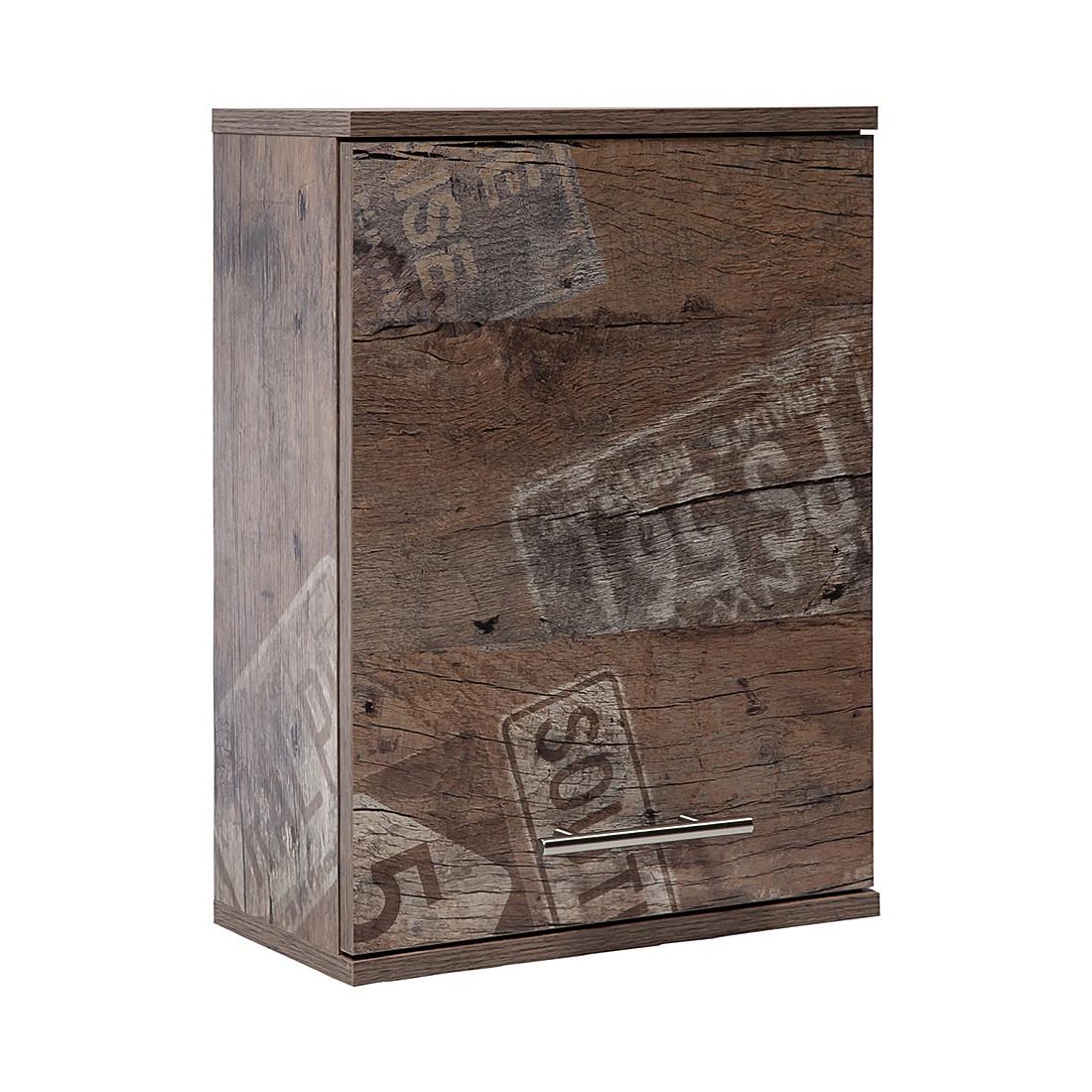 home24 Schildmeyer Oberschrank Smilla Spanplatte Panama Eiche Dekor 40x55x20 cm (BxHxT) Industrial