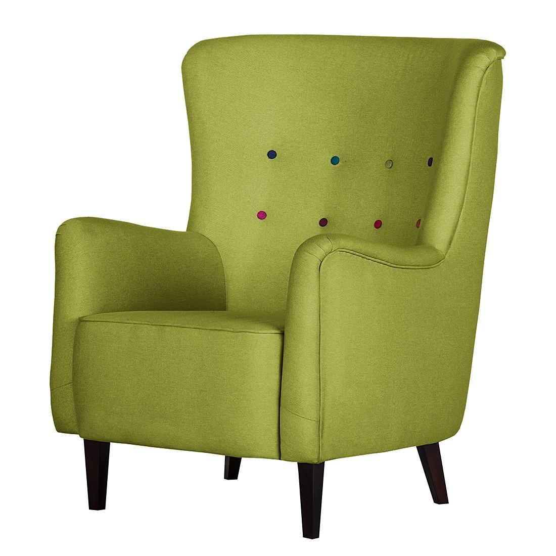 goedkoop Oorfauteuil Josslyn groen geweven stof Morteens