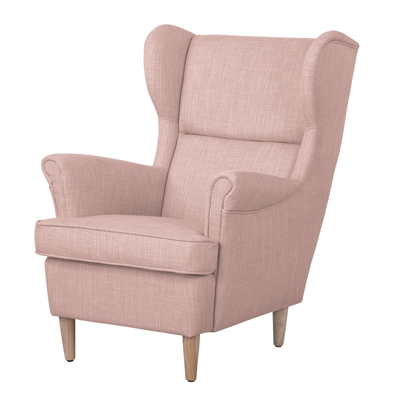 Ohrensessel Juna I Webstoff | Wohnzimmer > Sessel > Ohrensessel | Pink | Textil | Moerteens