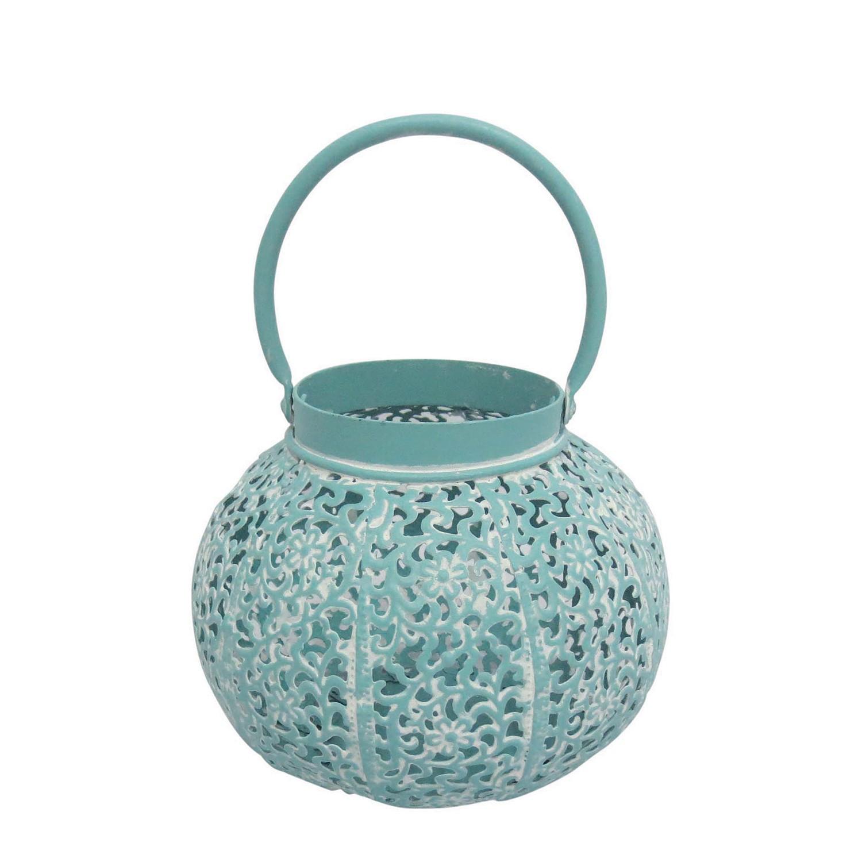 home24 Orient Laterne Jawa | Dekoration > Kerzen und Kerzenständer | Blau | Metall | My Flair
