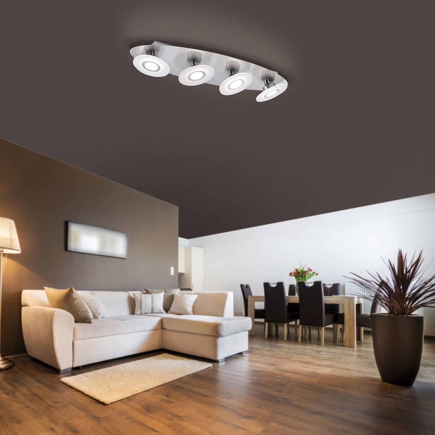 home24 LED-Deckenleuchte Magna Shine I