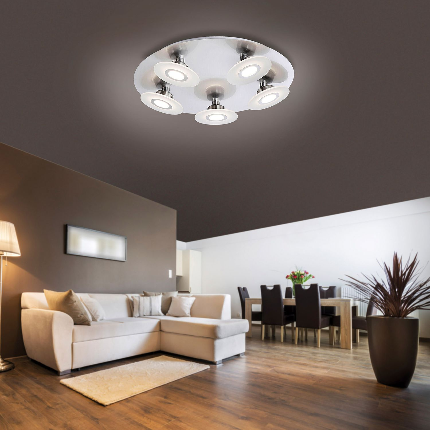 home24 LED-Deckenleuchte Magna Shine II
