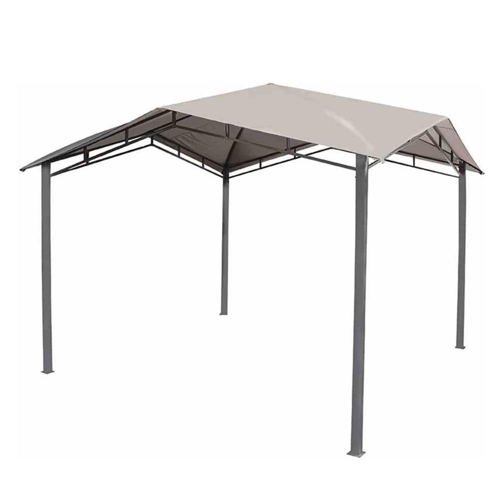 Pavillon Brasil - Stahl / Polyester - Anthrazit / Grau, Siena Garden
