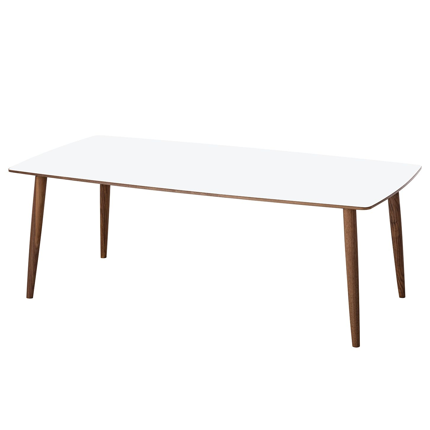 Table basse Laudal I - 48 - Blanc / Noyer, Studio Copenhagen