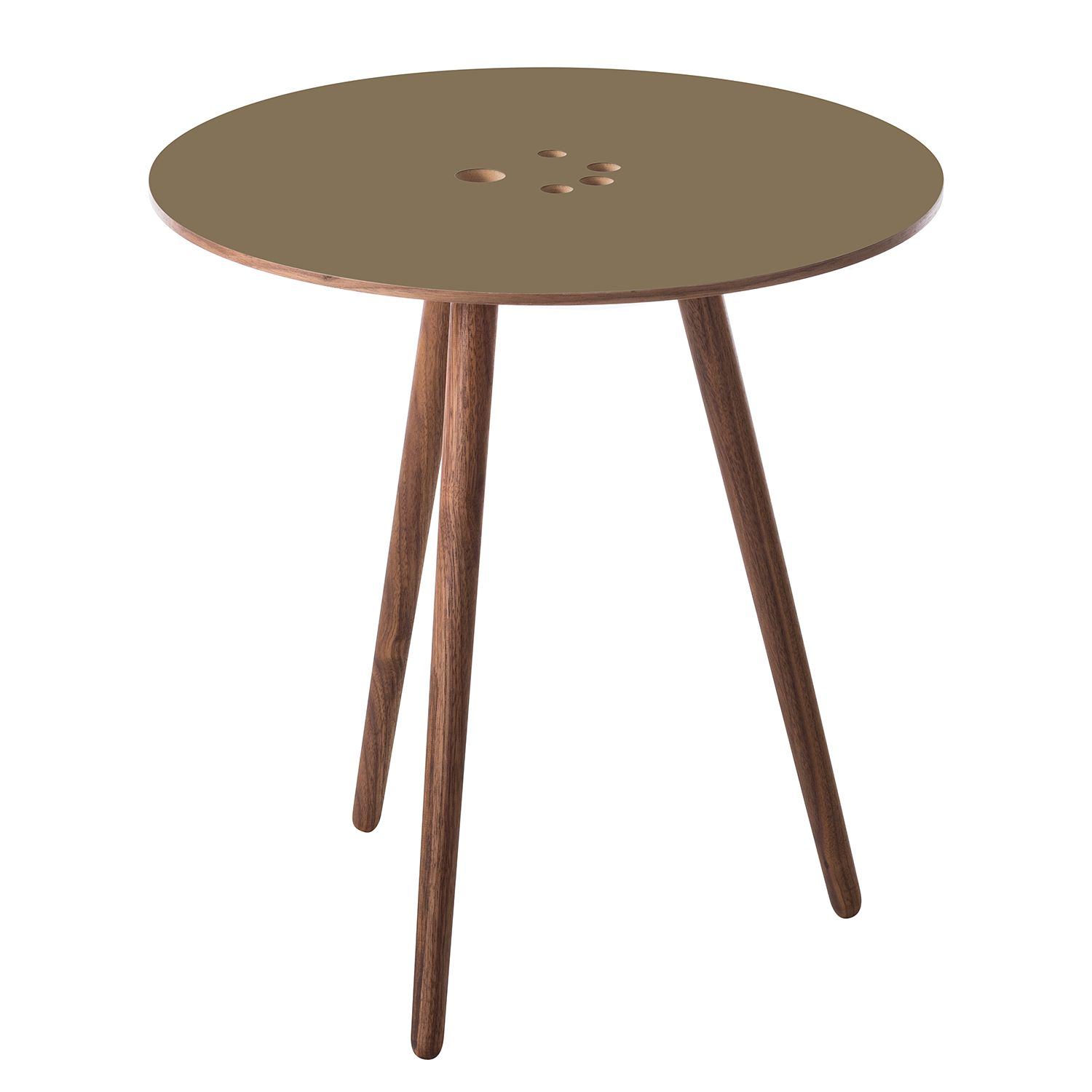 Table d'appoint Eldena I - Taupe / Noyer, Studio Copenhagen