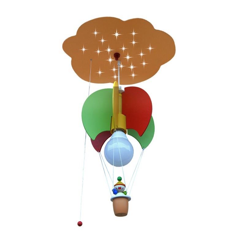Suspension Nuage, mongolfière et clown