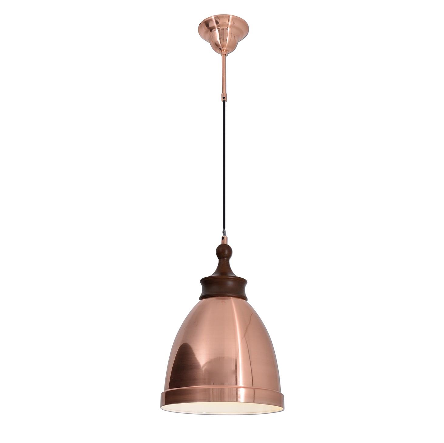 energie A++, Hanglamp Copper by N�ve metaal-bruin hout 1 lichtbron, N�ve