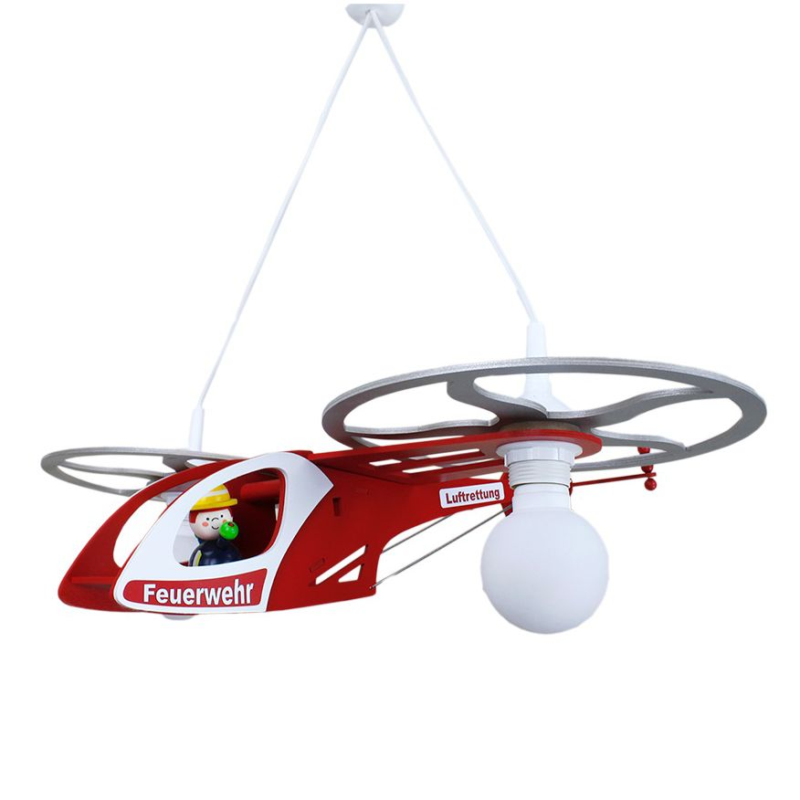 home24 Pendelleuchte Feuerwehr Helikopter