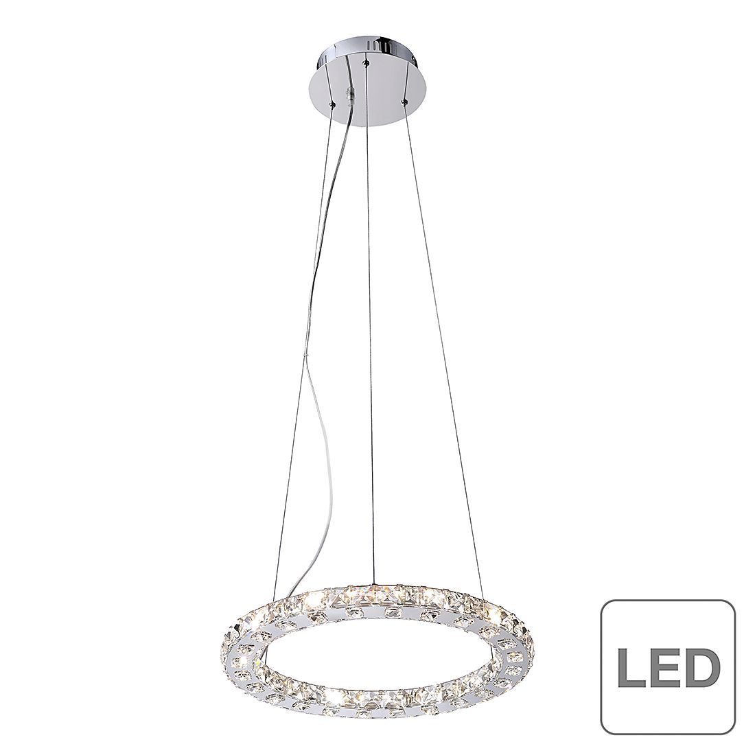 home24 LED-Pendelleuchte Jola