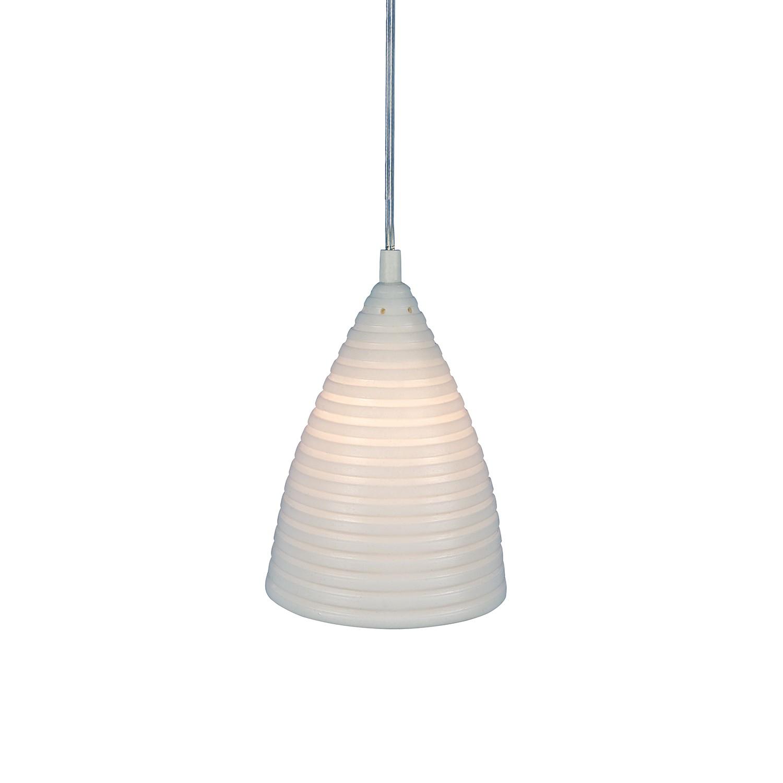 Näve Pendelleuchte Keramik Weiß Landhaus Ø 15 cm 1-flammig E14, Näve