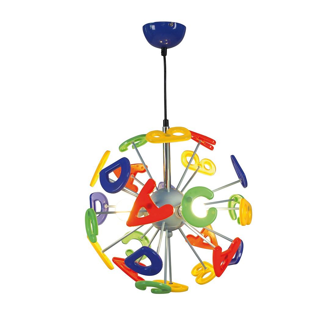 EEK A++, Pendelleuchte Kizi - Kunststoff/ Metall - Multicolor - 3-flammig, Näve