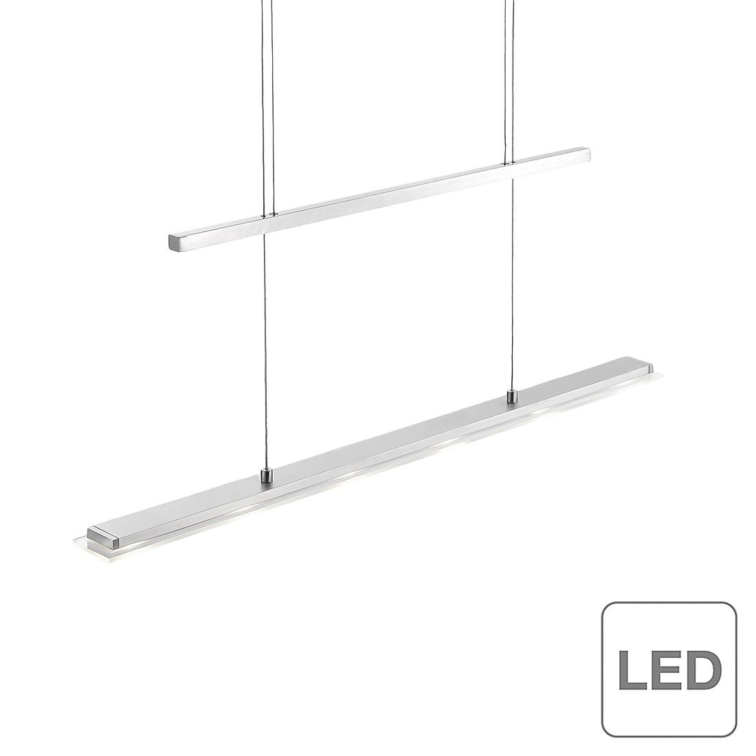 EEK A+, LED-Pendelleuchte Rack 2.0 - Metall/Glas - Silber, Paul Neuhaus
