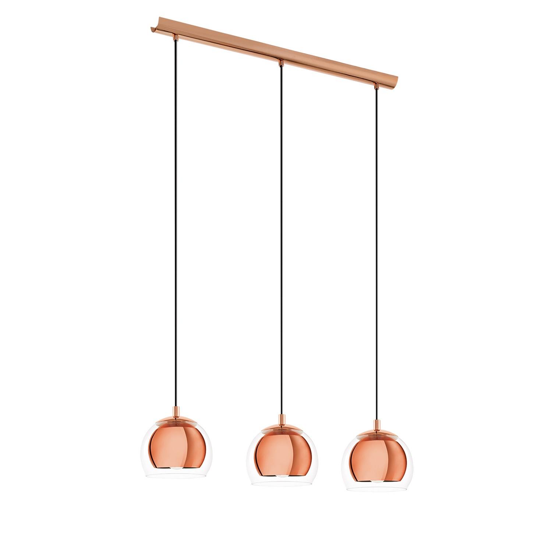 EEK A++, Suspension Rocamar I - Verre / Acier - 1 ampoule - 3 - Cuivre, Eglo