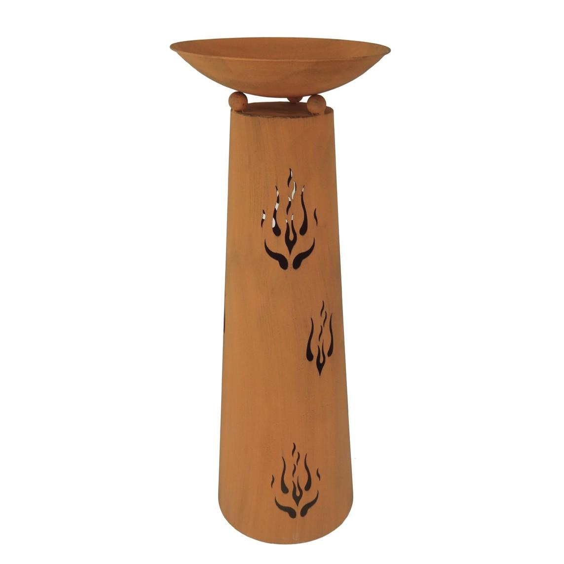 Pflanzschale Pillar I - Stahl - Rostbraun - 118.5, Garden Pleasure