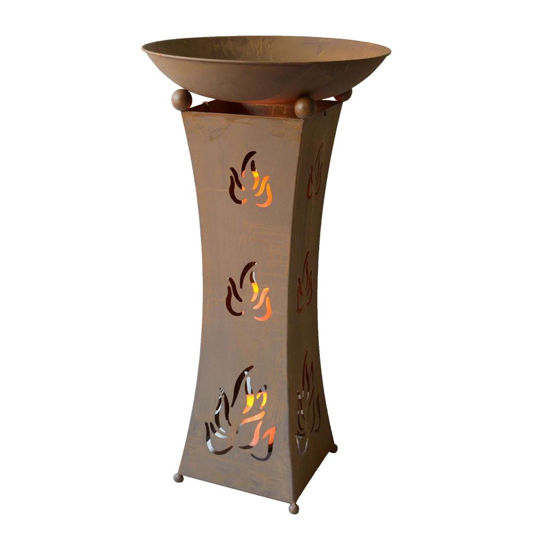 Pflanzschale Pillar III - Stahl - Rostbraun, Garden Pleasure bei Home24 - Gartenmöbel