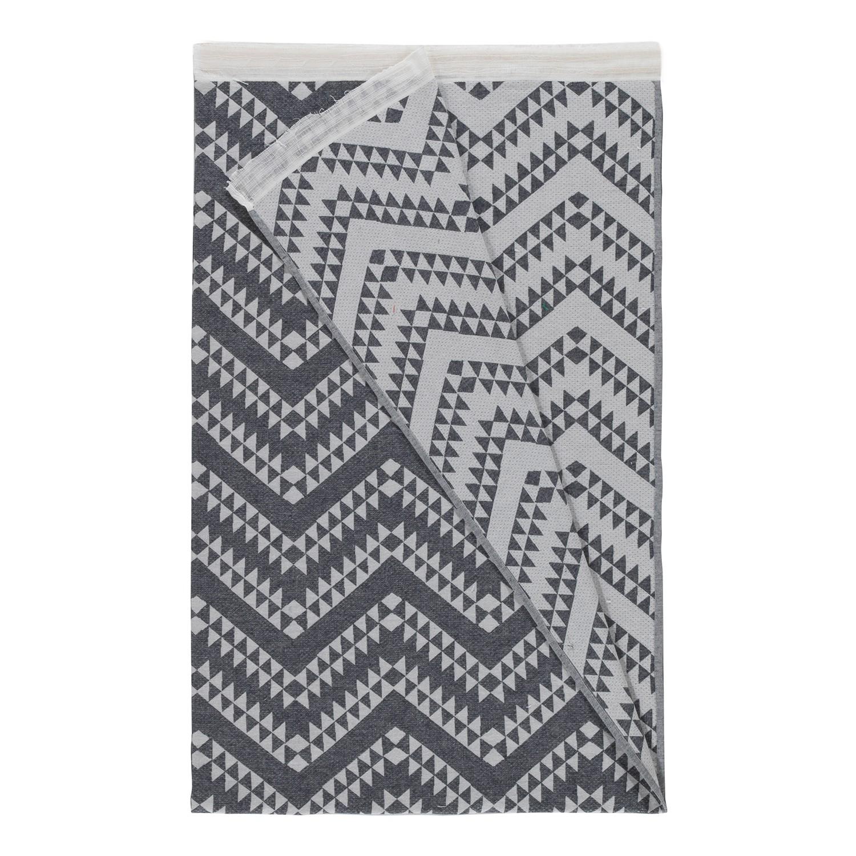 plaid houstry coton gris fonc cr me eva padberg collection meubles en ligne. Black Bedroom Furniture Sets. Home Design Ideas