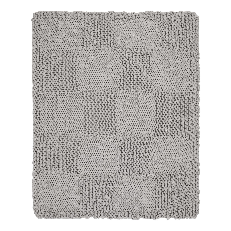 Plaid Karo - Webstoff - Grau, Maison Belfort