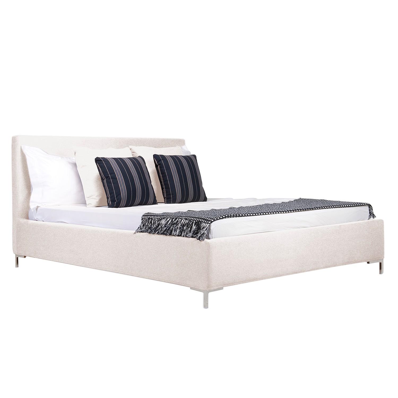 goedkoop Gestoffeerd bed Aralia I geweven stof 160 x 200cm Geen bedlade T vorm Stof Floreana Beige Studio Copenhagen