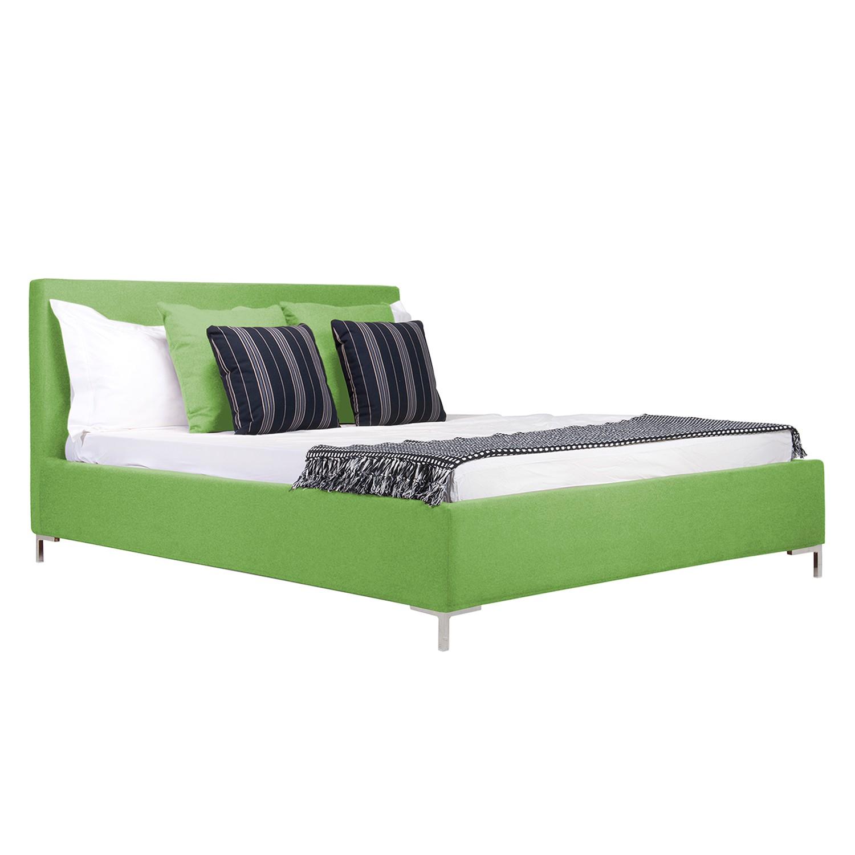 goedkoop Gestoffeerd bed Aralia I geweven stof 180 x 200cm Met bedlade T vorm Stof Floreana Groen Studio Copenhagen