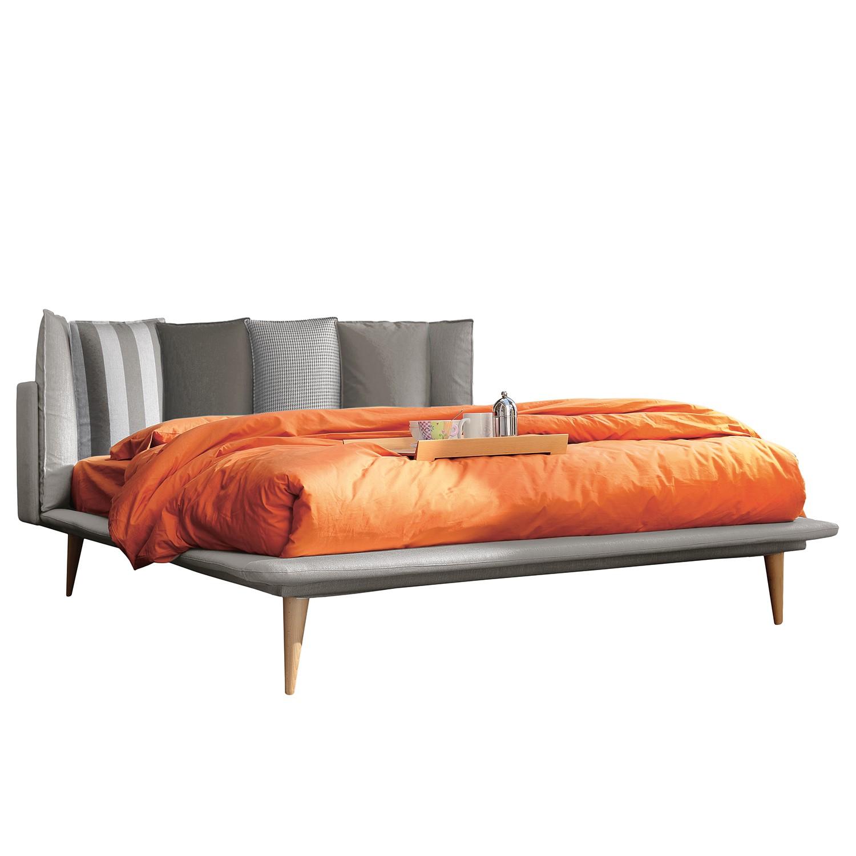 goedkoop Gestoffeerd bed Brogan geweven stof 180 x 200cm Lichtgrijs Studio Copenhagen
