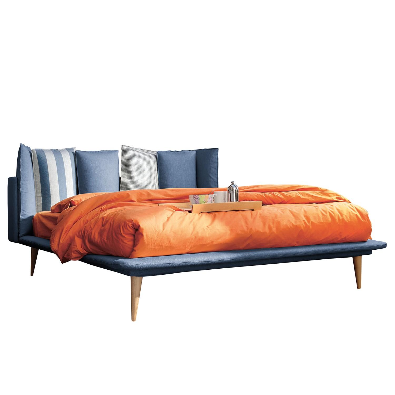 Polsterbett Brogan - Webstoff - 160 x 200cm - Meerblau