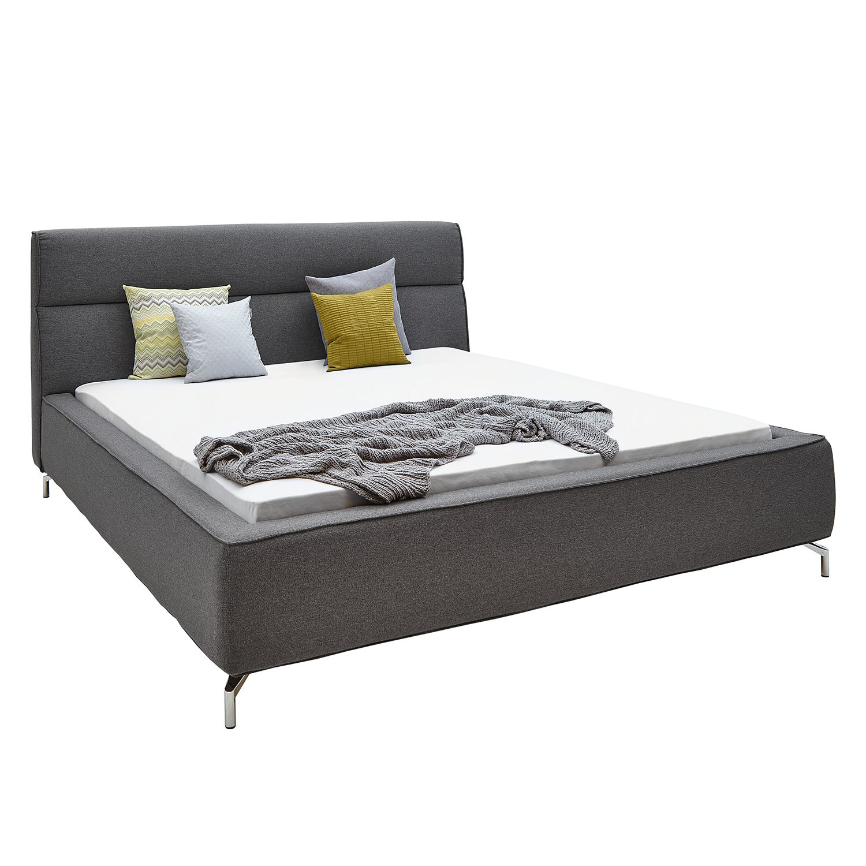 goedkoop Gestoffeerd bed Caliento geweven stof 160 x 200cm Donkergrijs Fredriks