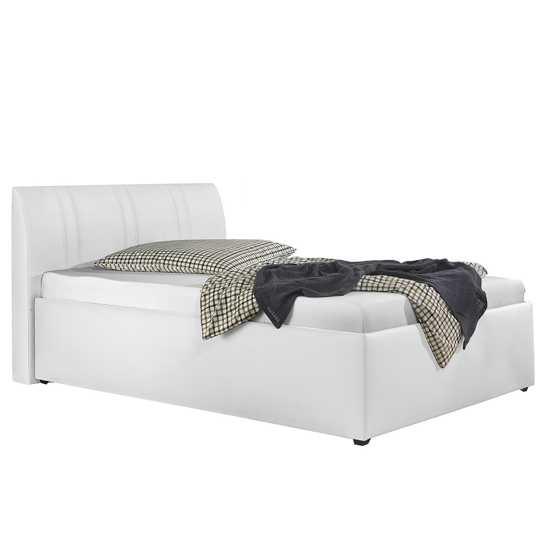 goedkoop Gestoffeerd bed Lovikka kunstleer 140 x 200cm Wit Monaco
