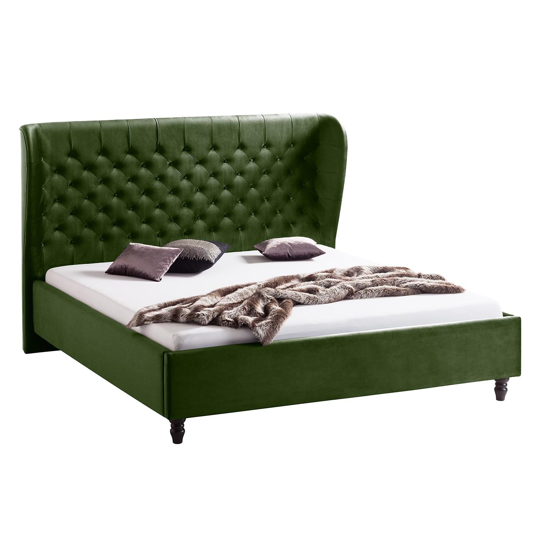 goedkoop Gestoffeerd bed Monroe fluweel 180 x 200cm Antiek groen Jack and Alice