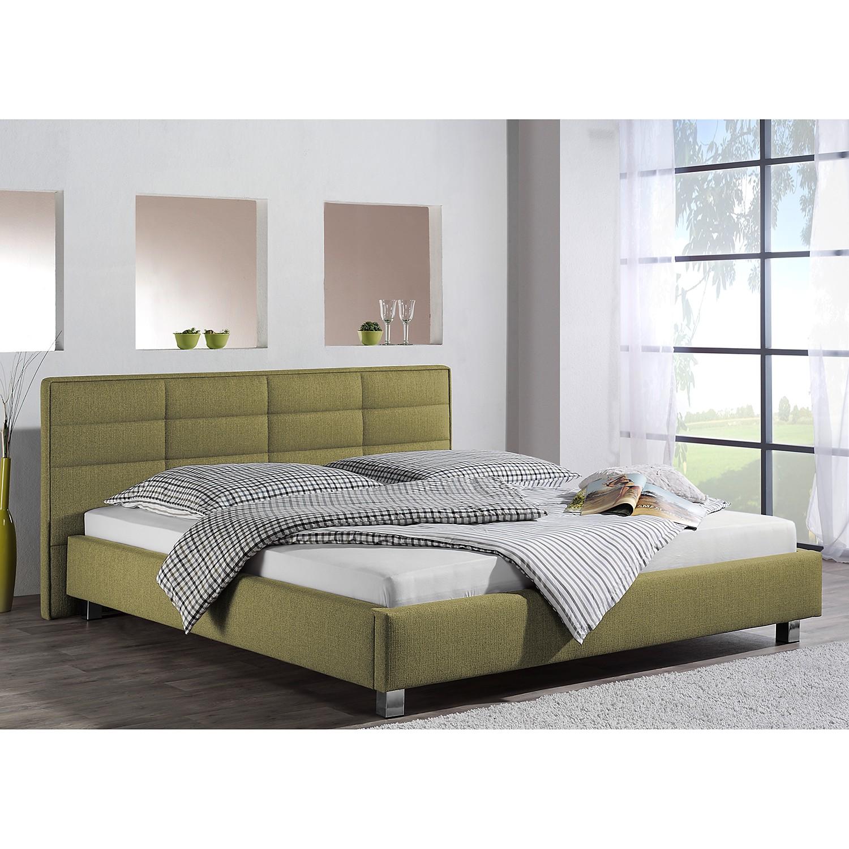 home24 loftscape Polsterbett Parsberg 200x200 cm Webstoff Pistaziengrün Modern