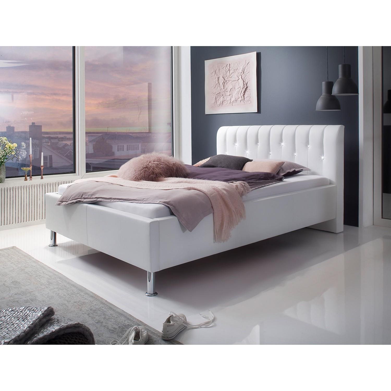 home24 meise.möbel Polsterbett Rapido 140x200 cm Kunstleder Weiß