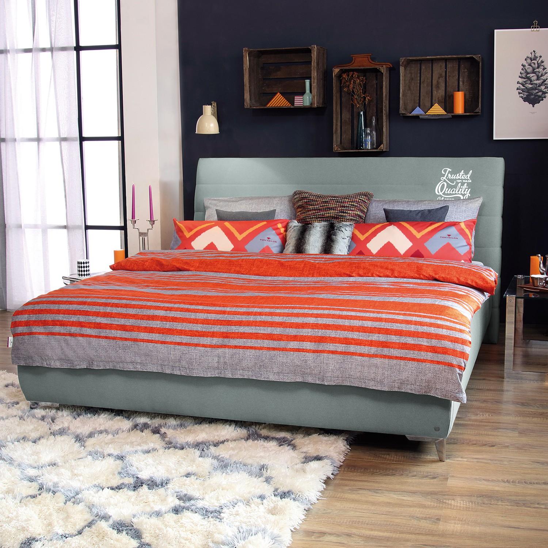 Schlafzimmermöbel - Polsterbett Soft Line Webstoff - Tom Tailor - Grau