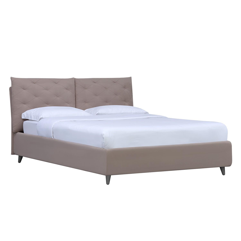 goedkoop Gestoffeerd bed Versa II 160 x 200cm Met bedlade Grijs Stof Valona Beige Studio Copenhagen