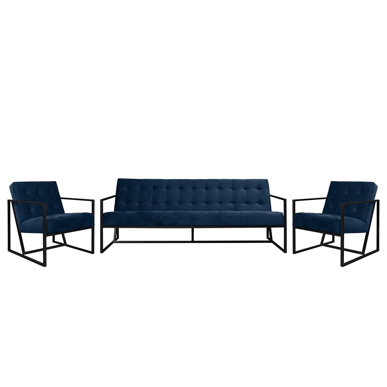 goedkoop Bankstellen Charm I microvezel 3zitsbank fauteuil fauteuil Marineblauw Jack and Alice
