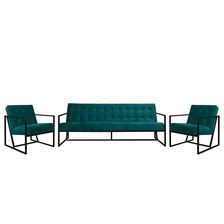 goedkoop Bankstellen Charm I microvezel 3zitsbank fauteuil fauteuil Petrolblauw Jack and Alice