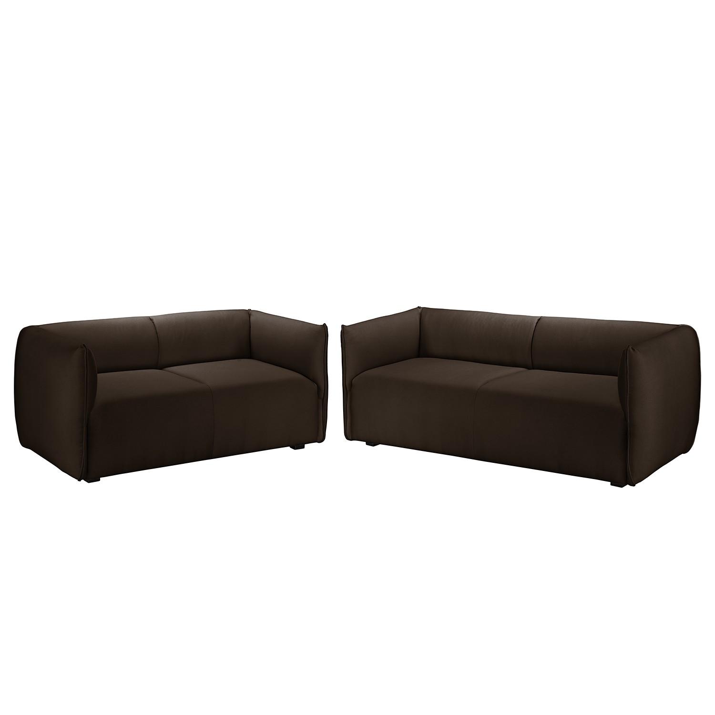home24 Polstergarnitur Grady I (3-2) Webstoff   Wohnzimmer > Sofas & Couches > Garnituren   Braun   Textil   Fredriks