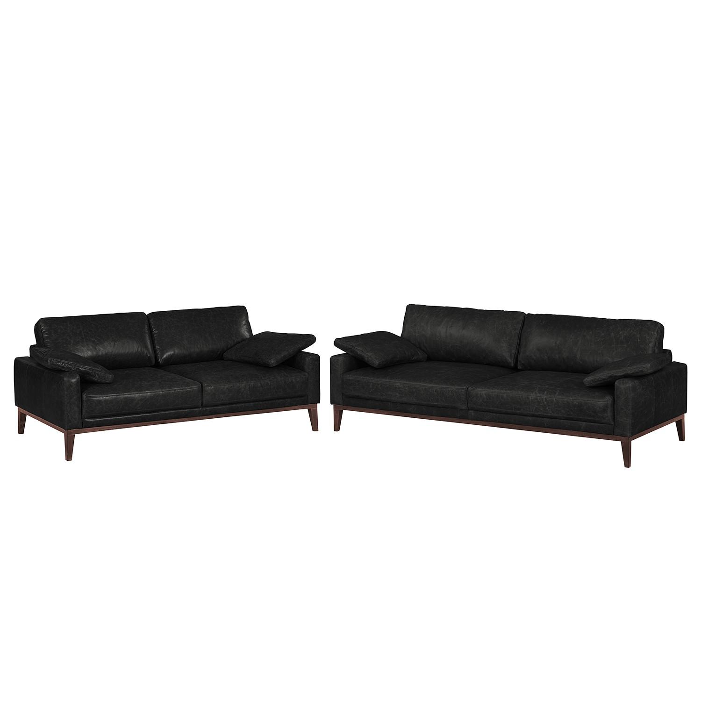 Bezaubernd Sofa Garnitur 3 Teilig Leder Dekoration Von Polstergarnitur Horley (3-2) Echtleder