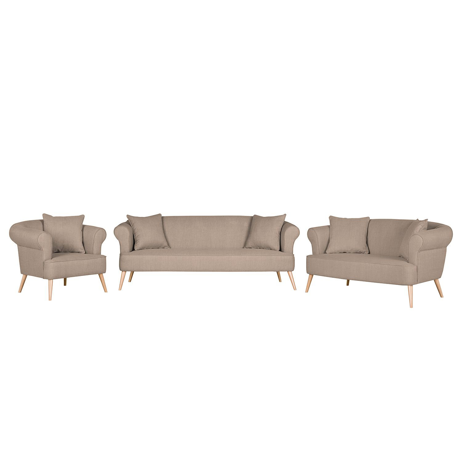 home24 Polstergarnitur Lilou (3-2-1) Webstoff | Wohnzimmer > Sofas & Couches > Garnituren | Moerteens