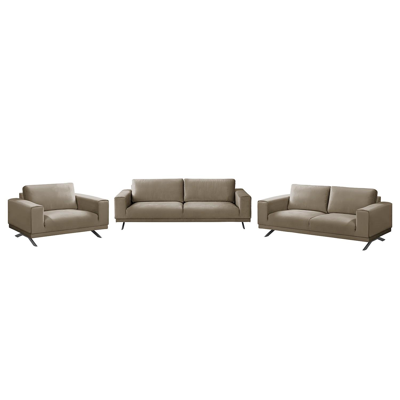 Polstergarnitur Lorcy (3-2-1) | Wohnzimmer > Sofas & Couches > Garnituren | Braun | Textil | Jack und Alice
