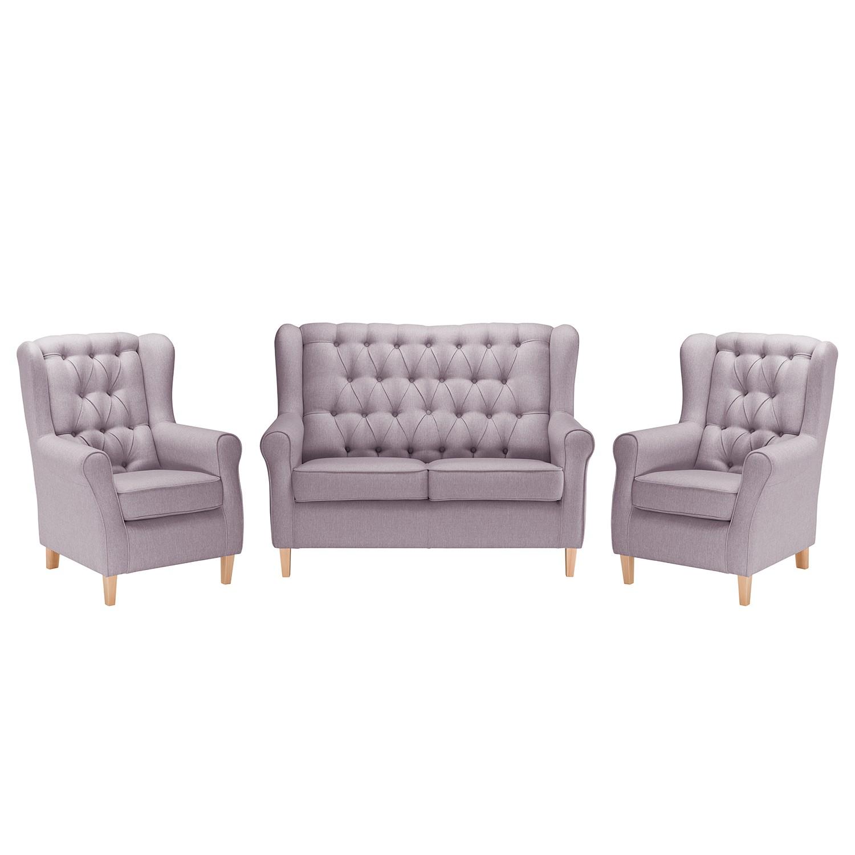 goedkoop Bankstellen Luro 2zitsbank fauteuil fauteuil structuurstof Lila Maison Belfort