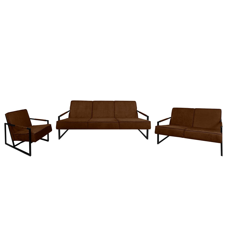 goedkoop Bankstellen Manchester IV 3zitsbank 2zitsbank fauteuil antieke leerlook Chocoladebruin ars manufacti