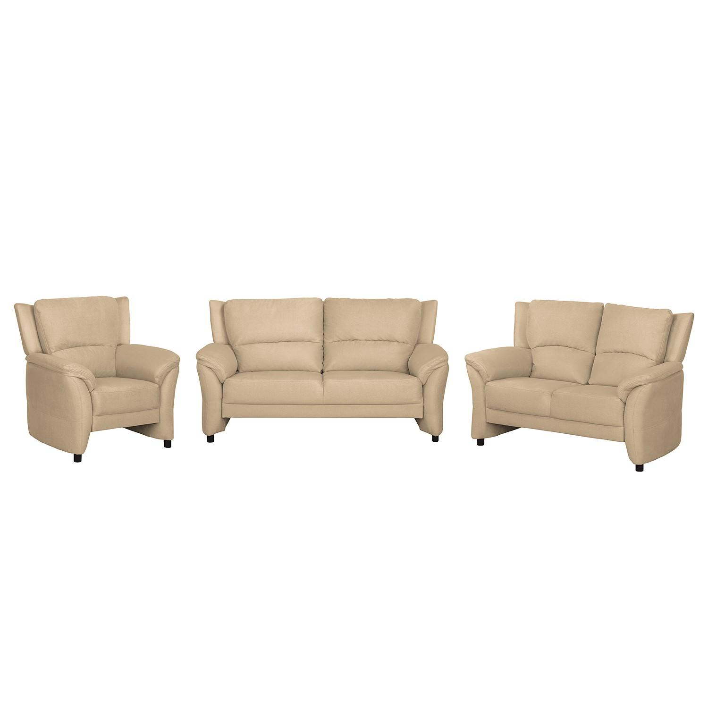 home24 Polstergarnitur Muncaster   Wohnzimmer > Sofas & Couches > Garnituren   Beige   Kunstleder - Textil   Modoform