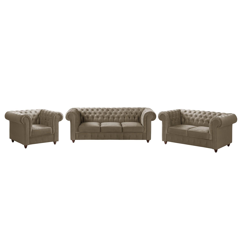 home24 Polstergarnitur Pintano (3-2-1)   Wohnzimmer > Sofas & Couches > Garnituren   Braun   Textil   Maison Belfort