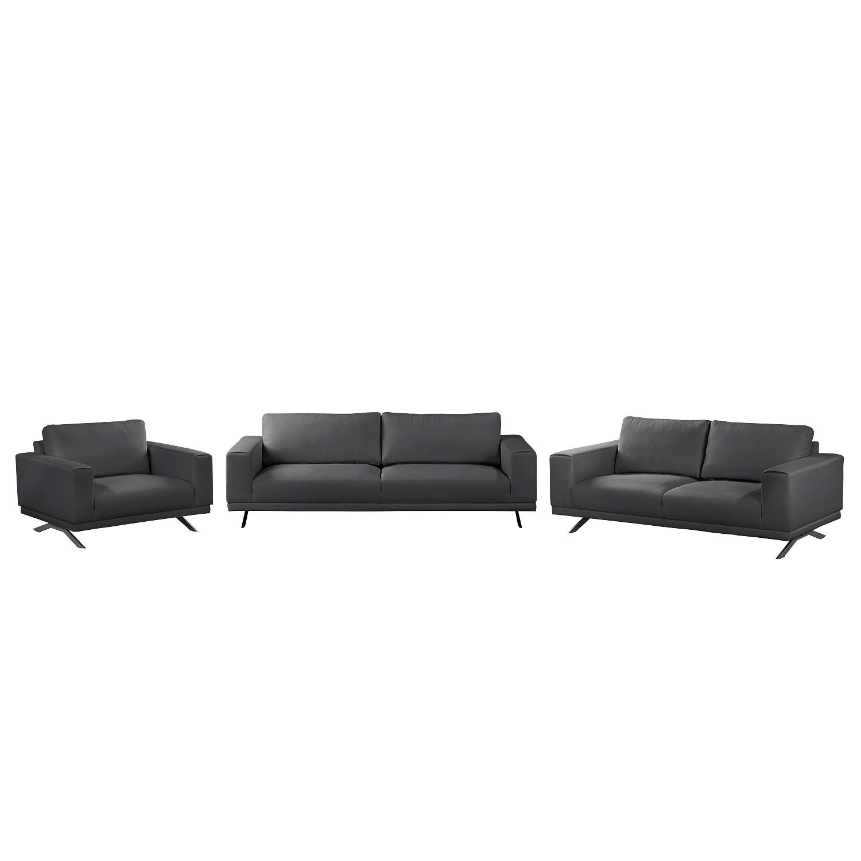Polstergarnitur Ramilia (3-2-1) | Wohnzimmer > Sofas & Couches > Garnituren | Grau | Textil | Fredriks