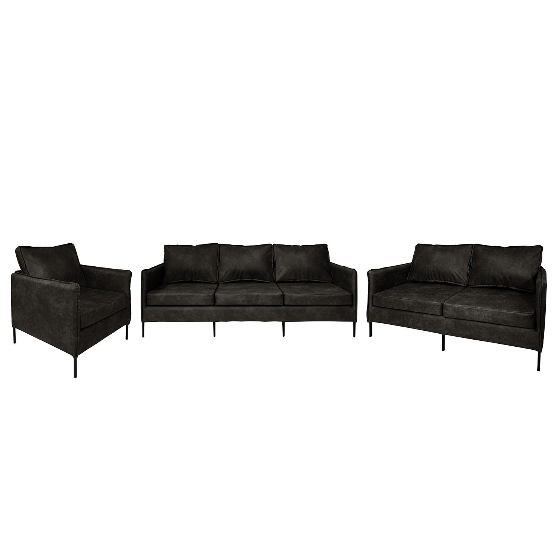 home24 Polstergarnitur Southwell (3-2-1)   Wohnzimmer > Sofas & Couches > Garnituren   Grau   Textil   ars manufacti