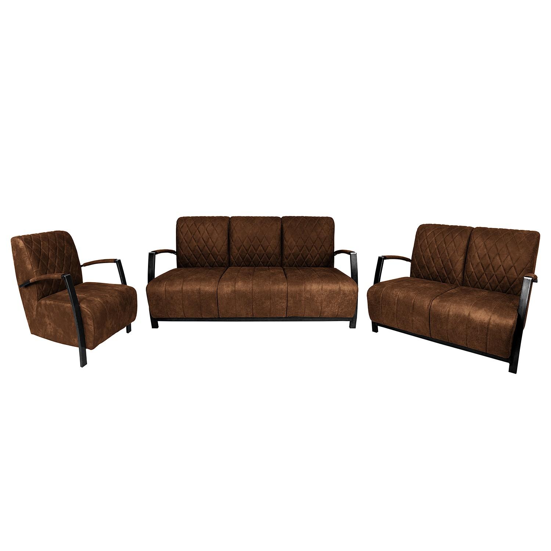 home24 Polstergarnitur Straid (3-2-1)   Wohnzimmer > Sofas & Couches > Garnituren   Braun   Textil   ars manufacti